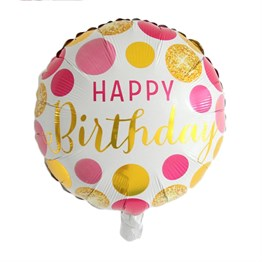 Folyo Balon Happy Birthday Pembe 45 cm